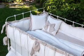 lulla smith baby bedding avignon linen set laundered linen