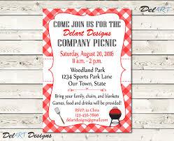 custom picnic invitations company bbq invite church or