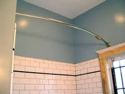Extra Long Shower Curtains For Walk In Showers Long Shower Curtain Rod Hall Bath Renovation Reveal And Details