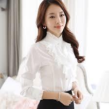 blouse ruffles 2018 ruffle blouse 2016 fashion stand collar ruffle cuff