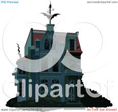clipart creepy halloween haunted house with boarded up windows