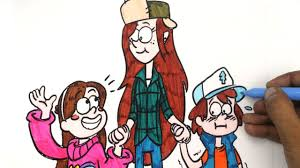 gravity falls coloring book pages for kids fun colouring