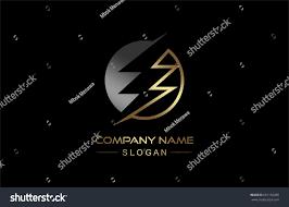 circular electricity icon gold metal color stock vector 601156280