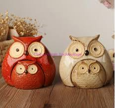 owl decorations for home new a set cute mini owls modern pottery home furnishings decor home