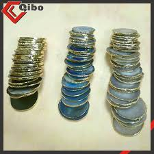 polished large blue brazilian agate slice wholesale home decor