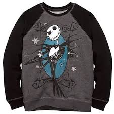 raglan skellington sweatshirt nightmare before