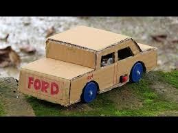 Membuat Miniatur Mobil Dari Kardus   ide kreatif membuat mobil ford mainan dari kardus bekas youtube