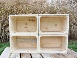 hand crafted small wood crate stackable made from reclaimed wood
