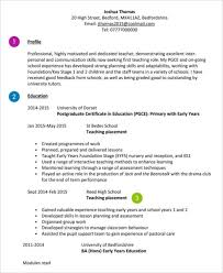 Resume For Teachers Sample by 8 Teaching Curriculum Vitae Free Sample Example Format