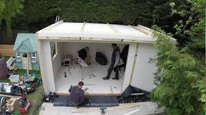 Garden Shed Office Garden Office Panel Assembly Youtube
