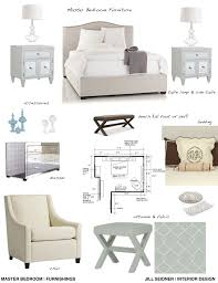 furnishings concept board for a master bedroom jill seidner