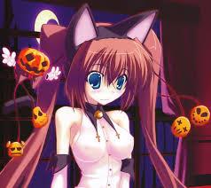 anime halloween background