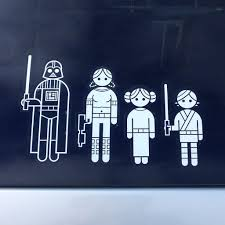 thinkgeek star wars family car decals review