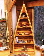Boat Shelf Bookcase Canoe Bookcases