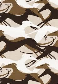 schumacher sleek greyhound dogs fabric natural