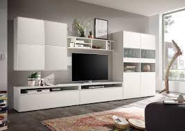 Wohnzimmer Ohne Wohnwand Hülsta Now Easy Wohnwand Lack Reinweiß Media 181x384x45 Cm