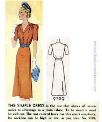 mccall dress pattern 9790 from 1938 thirties 1930s witness2fashion