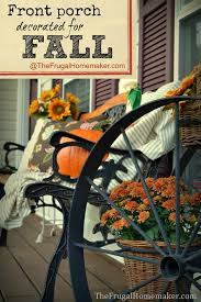 Fall Decorated Porches - fall project round up
