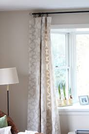 How To Make Curtains Out Of Drop Cloths Stenciled Drop Cloth Curtain Tutorial Shine Your Light