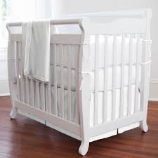 Mini Crib White Solid White Portable Crib Bedding Carousel Designs