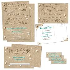 Beach Wedding Invitations Party Simplicity Sandy Toes And Salty Kisses Beach Wedding