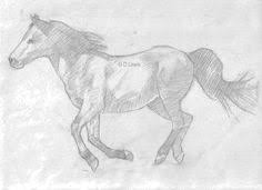 how to sketch a realistic running horse sketches horse and