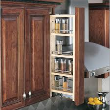 6 inch spice rack cabinet shop rev a shelf 3 in w x 30 in h wood 4 tier pull out cabinet shelf