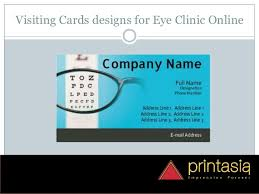 Cards Design Online Eye Clinic Visiting Cards Visiting Cards Design Online Eye Clinic