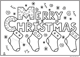merry christmas coloring pages kids