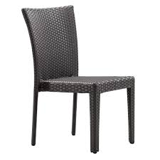 zuo arica espresso wicker outdoor patio dining chair 701360 the