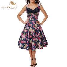 wholesale women summer inspired vintage dress clothing retro 50s
