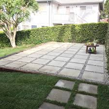 Snap Together Patio Pavers by Large Pavers Used To Create Patio In Backyard Quick And Easy