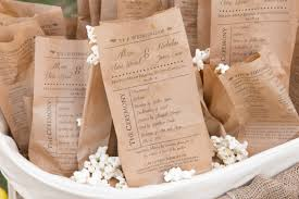 kraft paper wedding programs popcorn bag wedding programs set of 25 custom kraft paper