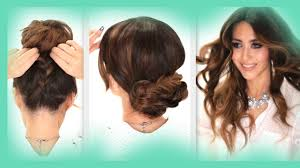 Easy Country Hairstyles by 3 Easy Hairstyles Braids Curls Messy Bun Hairstyle