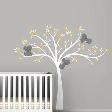 sticker ourson chambre bébé grande taille ours et arbre wall sticker pour enfants koala