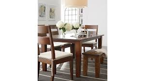 Light Wood Dining Room Sets Basque Honey Dining Tables Crate And Barrel