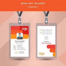 le bureau carte identification colorée ou conception de carte d identité pour le