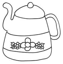 coloring pages teapot