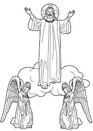coloring page of jesus ascension jesus ascends to heaven coloring pages
