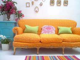 living room color combinations inspiration with orange yellow and
