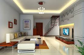 modern white high ceiling design for contemporary living room with