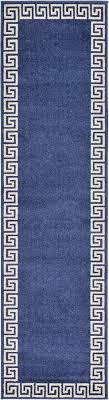 Blue Modern Rug Modern Design Border Area Rug Contemporary Large Soft Carpet