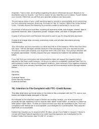 credit bureau form letters professional resumes example online