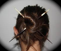 chopsticks for hair porcupine quill hair sticks chopsticks bun felt hair