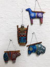 navajo made soft sculpture ornaments at kachina house