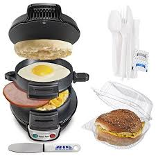 New Durable Hamilton Beach Breakfast Sandwich Maker Black Cooking