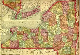 Map Ny 1895 Map Of New York State By County By Rand Mcnally