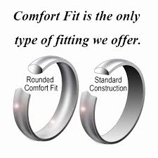 comfort fit ring queenwish 5mm domed white tungsten carbide wedding band engagement