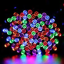 ledertek battery operated rainbow lights with 200 led