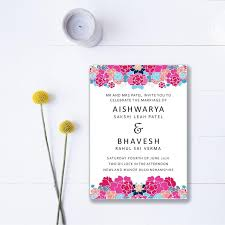 Wedding Invitations India Indian Summer Floral Wedding Invitations Indian Wedding